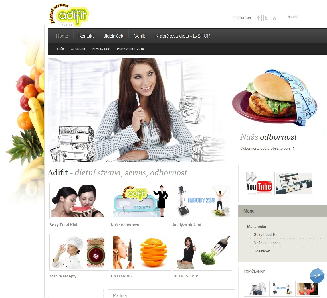 Reference webdesign - Adifit s.r.o.